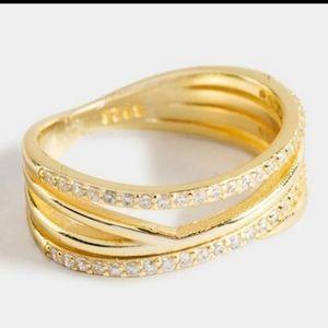 Francesca's EMMA 14k Sterling Silver Ring